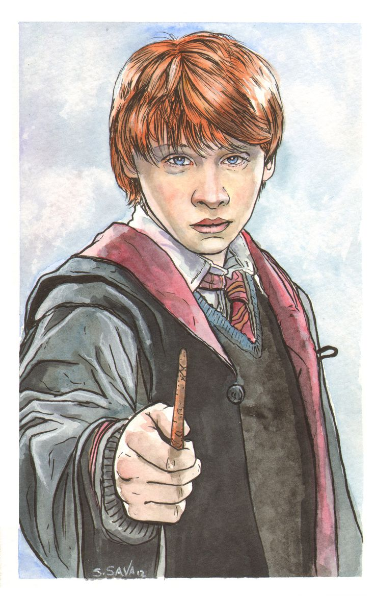Watercolor books for sale - My Boys Love The Harry Potter Books And The Movies We Ve Let Them See So Far Watercolor And Ink On Inch Watercolor Paper Original Painting And Many