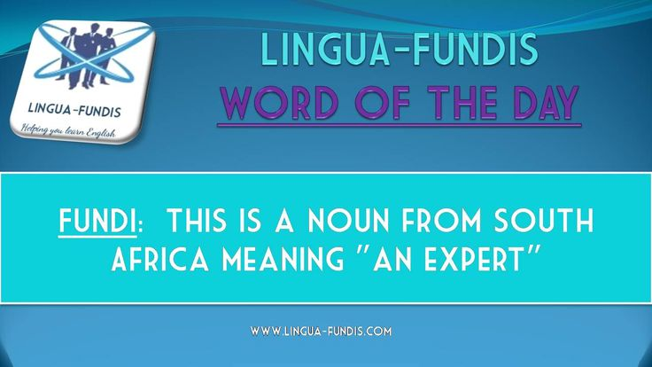 LINGUA-FUNDIS WORD OF THE DAY.....  Take a look at the meaning of this word of the day and see if you can use it in a sentence.