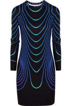 Christopher Kane Printed jersey dress   NET-A-PORTER