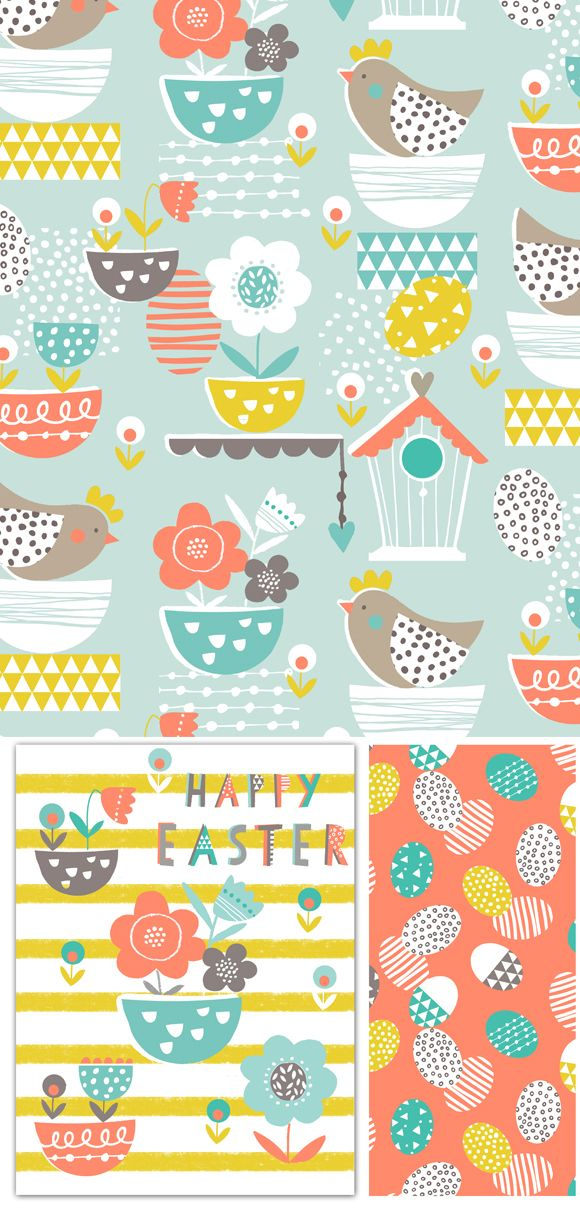 wendy kendall designs – freelance surface pattern designer » easter nest