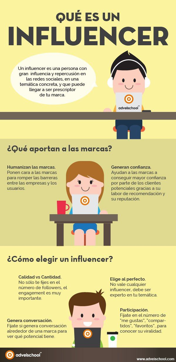 Qué es un Influencer #infografia                                                                                                                                                                                 Más