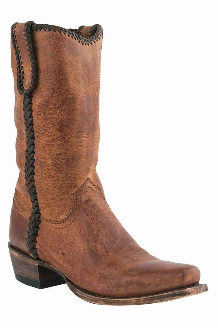 ON SALE & FREE SHIPPING! Lucchese Men's Mad Dog Laced Peanut Brittle Brown Cowboy Boots
