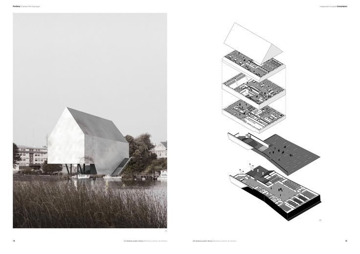 The Best Architecture Portfolio Designs,Submitted by Cristóbal Riffo