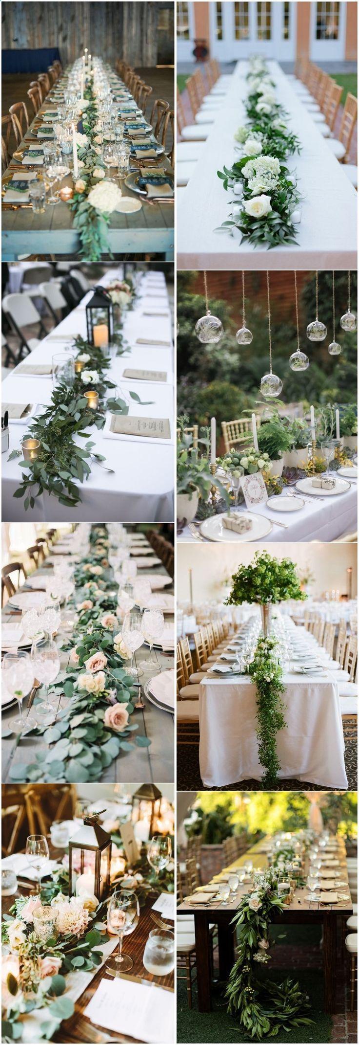 18 décorations de table de mariage de verdure rustique que vous allez adorer!