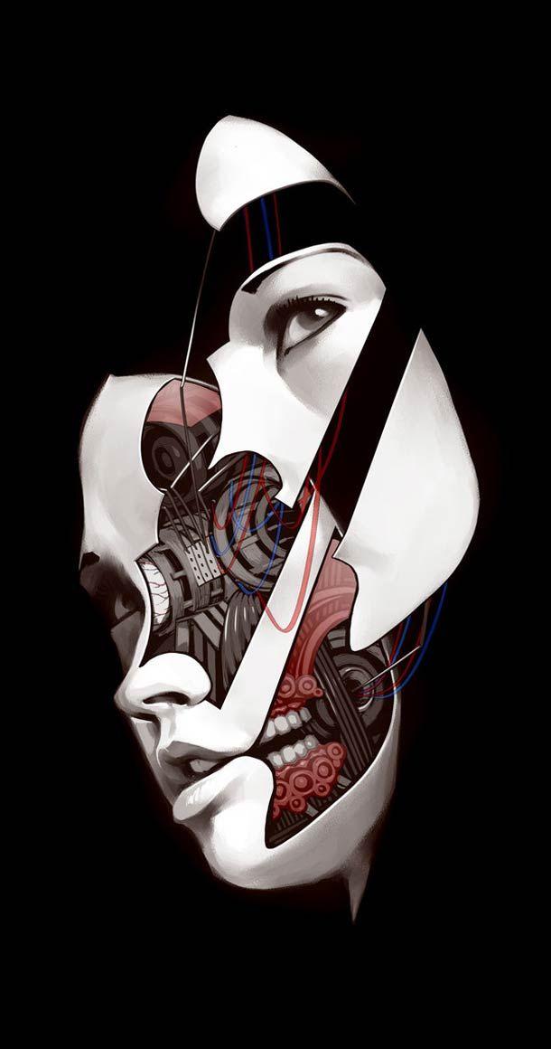 Future Face – Les illustrations de Billy Nunez