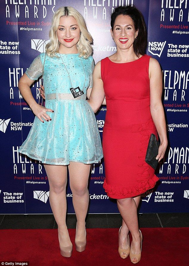 Colourful: Kate Miller-Heidke (L) and Lally Katz (R) opted for garishly coloured outfits ...