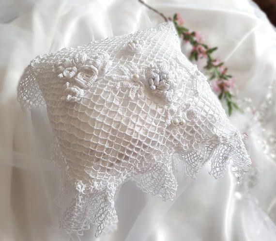 Check out this item in my Etsy shop https://www.etsy.com/listing/510397716/lace-wedding-pillow-ring-bearer-pillow