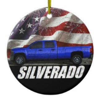 2013 Silverado 3500HD Crew Cab LT Long Bed 4x4 Ceramic Ornament