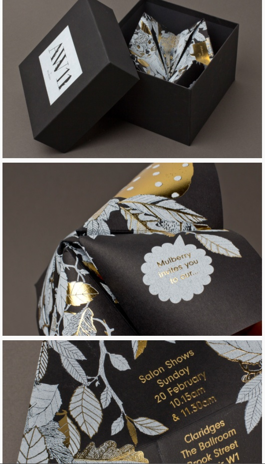 Mulberry Autumn/Winter '11 - Origami Invitation