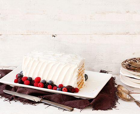 Strawberry Icebox CakeIcebox Cake Recipe, Sweets, Bakers Royal, 3 Ingredients Strawberries, Food, Three Ingredients, Strawberries Icebox Cake, Lights Desserts, 30 Minute