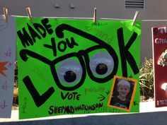 campaign poster ideas for high school elections - Google Search