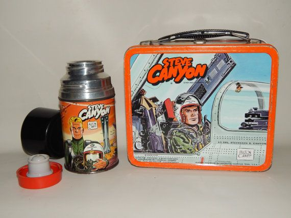 1959 Steve Canyon Lunch Box & Thermos by TheFridayBarn