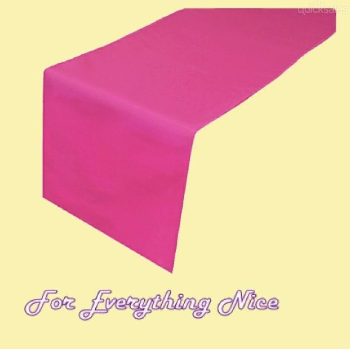 Fuchsia Pink Polyester Wedding Table Runners Decorations x 5 For Hire by J7339 - $30.00
