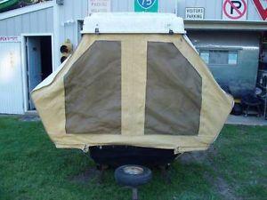 Vintage Travelite Pull Behind Pop Up Camper Trailer