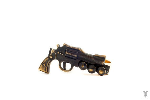 PISTOL WHIPPED Peace Maker Double Gun Ring by jungletribecouture