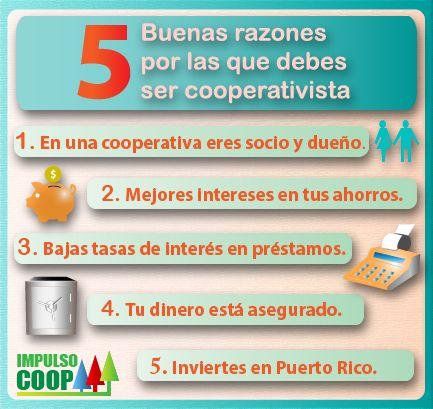 5 buenas razones para se cooperativista Creado por ImpulsoCoop.com