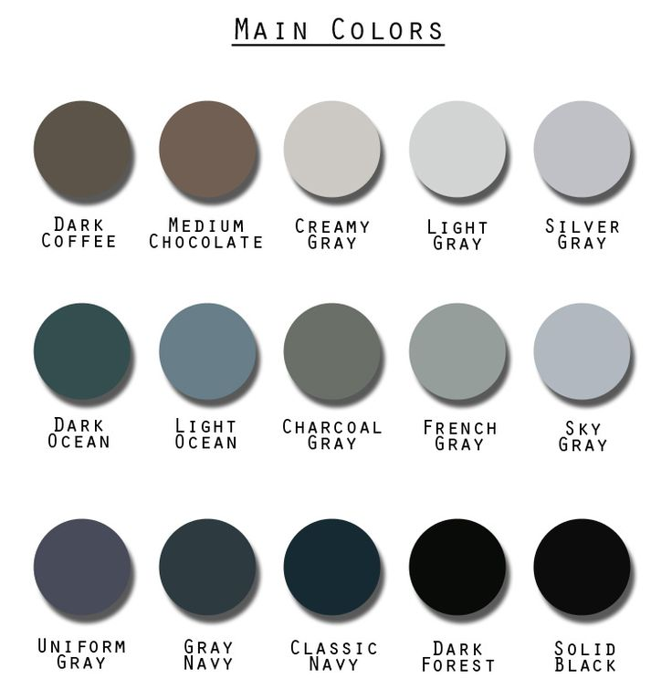 418 best wardrobe architect images on pinterest for Grey color palette names