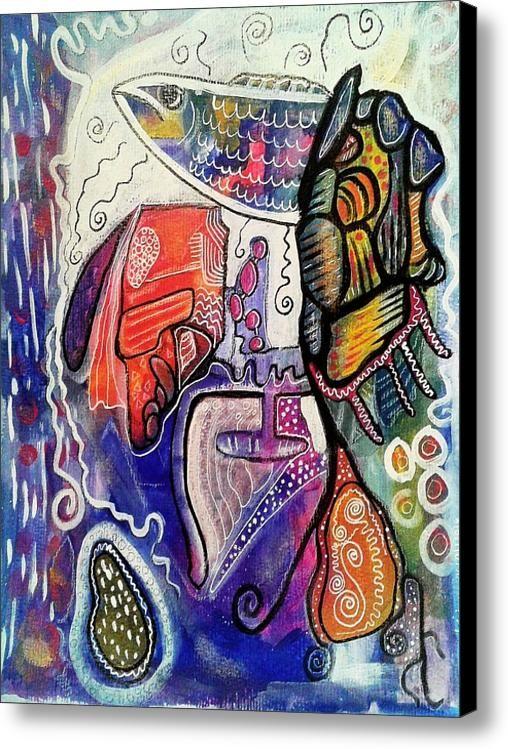 Rainbowtrout Canvas Print / Canvas Art By Mimulux Patricia No