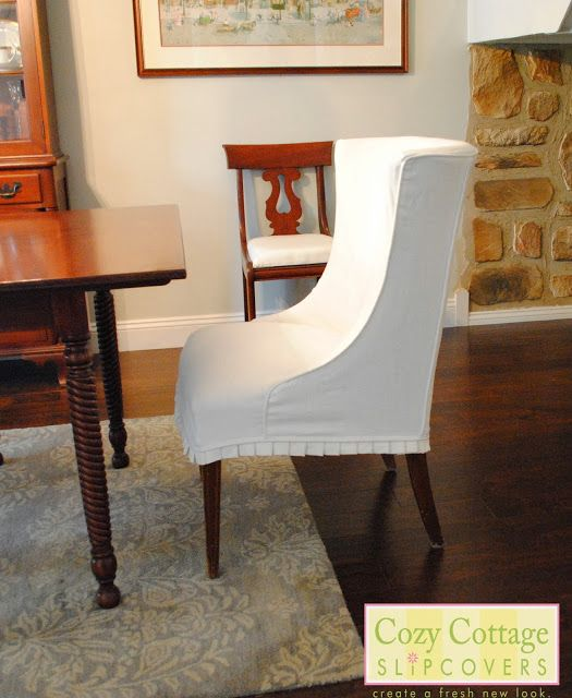Cozy Cottage Slipcovers- white dining chair slipcovers