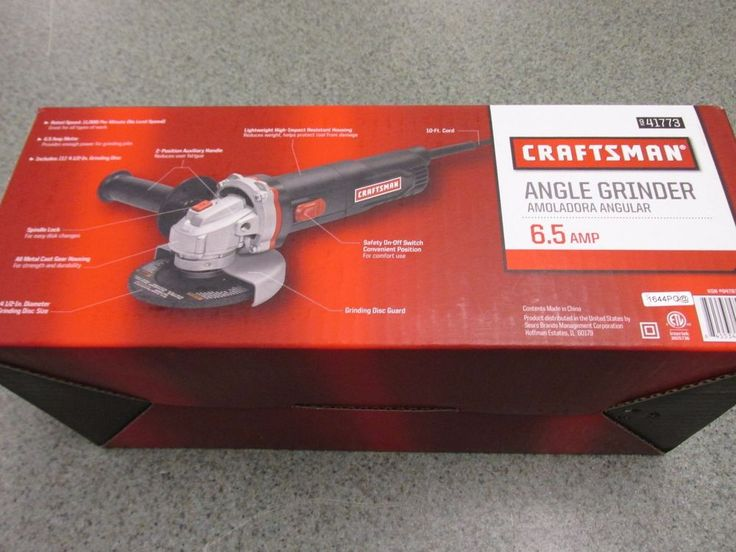 NEW! CRAFTSMAN – 41773 4 1/2″ 6.5 AMP ANGLE GRINDER | Home & Garden, Tools, Power Tools | eBay!