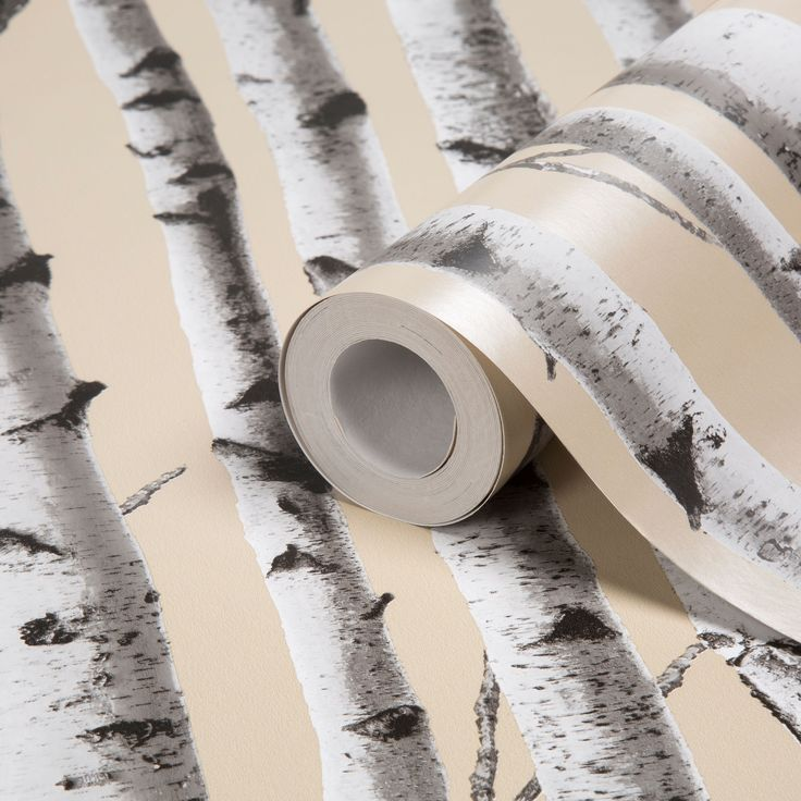 Birchfield Trees Mica Effect Wallpaper | Departments | DIY at B&Q