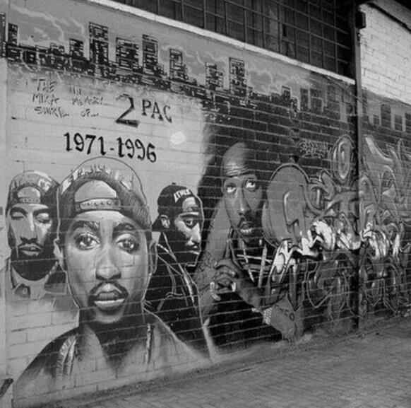 2pac memorial classic hip hop pinterest art and for Eminem wall mural