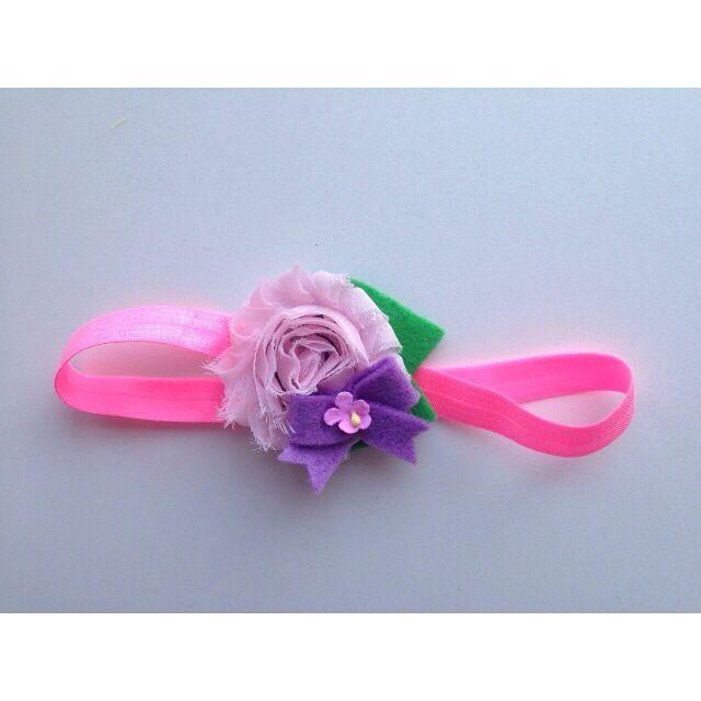 Shabby flower headband