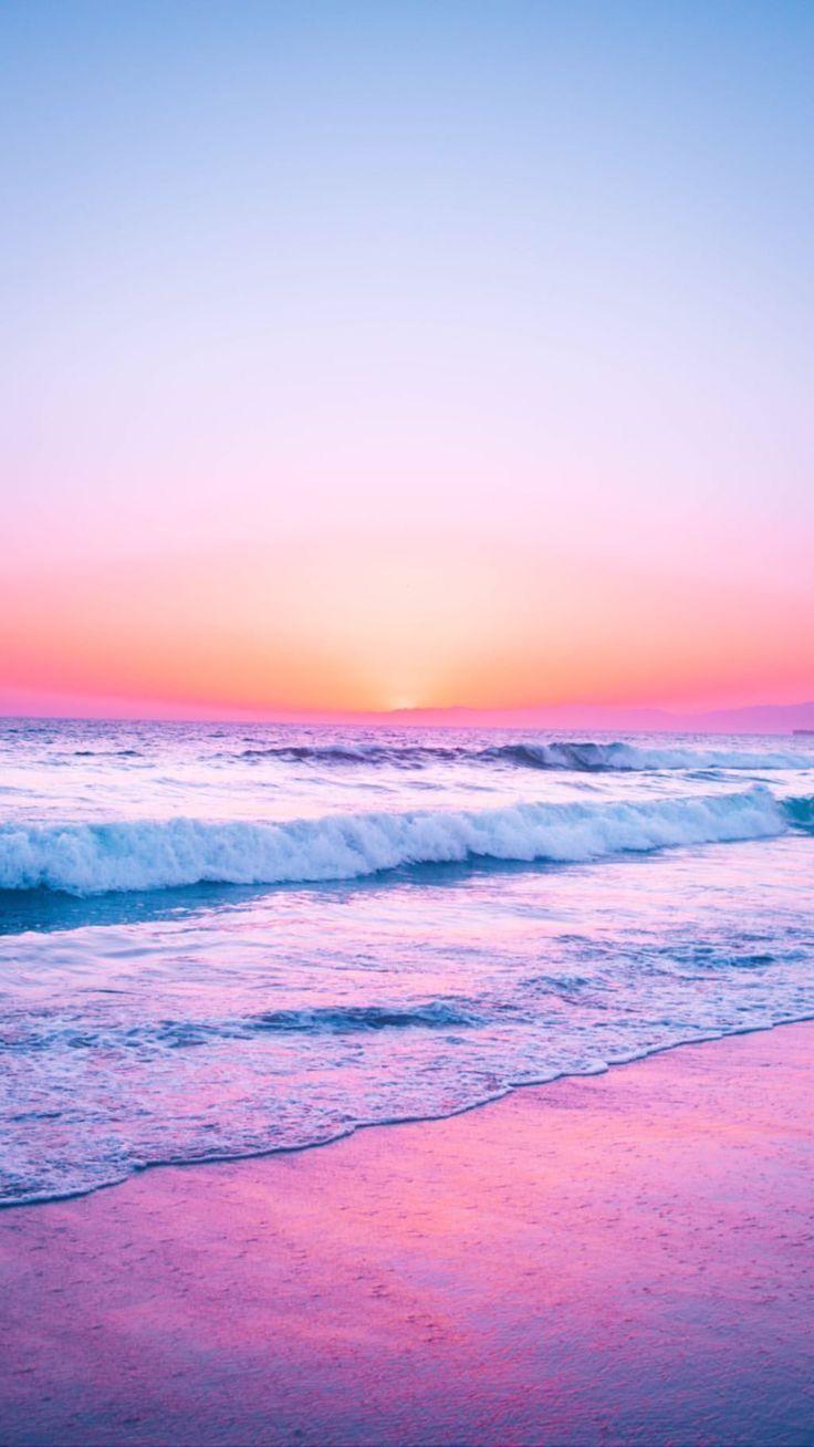 Pink Purple Orange Blue Beauty Scene Serene Calm Peaceful Beach Wallpaper Beautiful Wallpapers Sunset Wallpaper