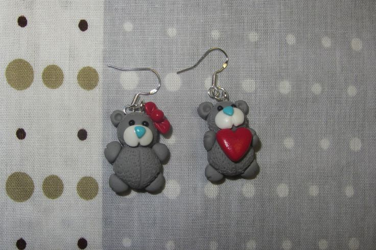 Teddy bears earrings/ серьги Медвежата
