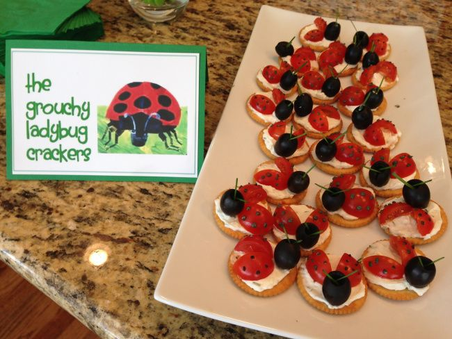 grouchy lady bug crackers cute story book ideas for baby shower foods