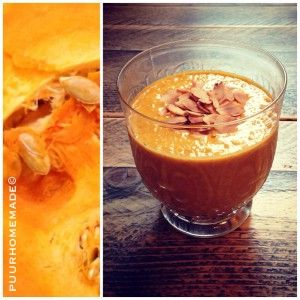 smoothie pompoen-amandel-havermout - Puur Homemade by Cilla Tibbe- www.puurhomemade.nl