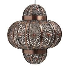 Wilko Plated Pendant Global Beaded...love it but: how do you change the bulb? think of the dust collection! :O