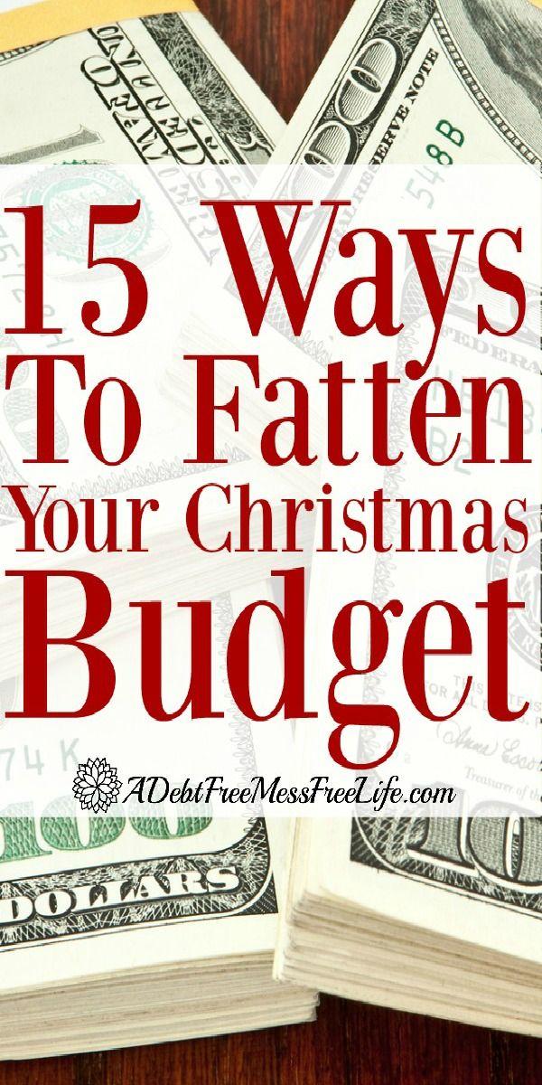 christmas budget