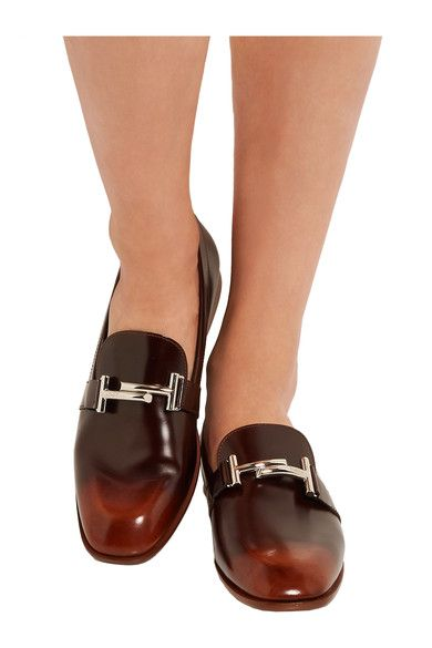 Tod's - Burnished Leather Loafers - Brown - IT