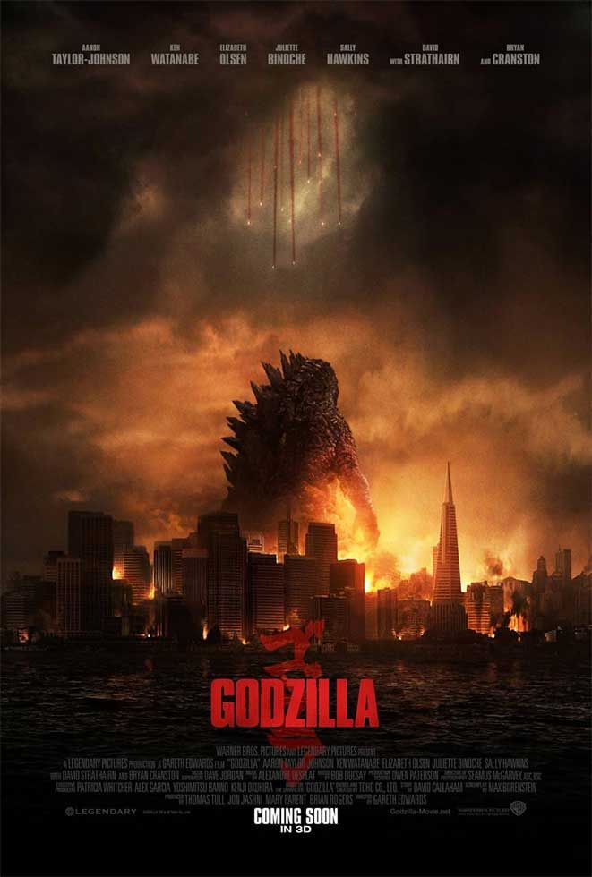 Godzilla Affiche du film du 14 Mai 2014