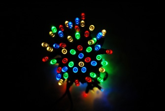 Solar Outdoor Fairy Lights - magic all year round! Available in a range of colours and sizes, from £29.99  2 metres of cable between solar panel and lights, fully weatherproof.