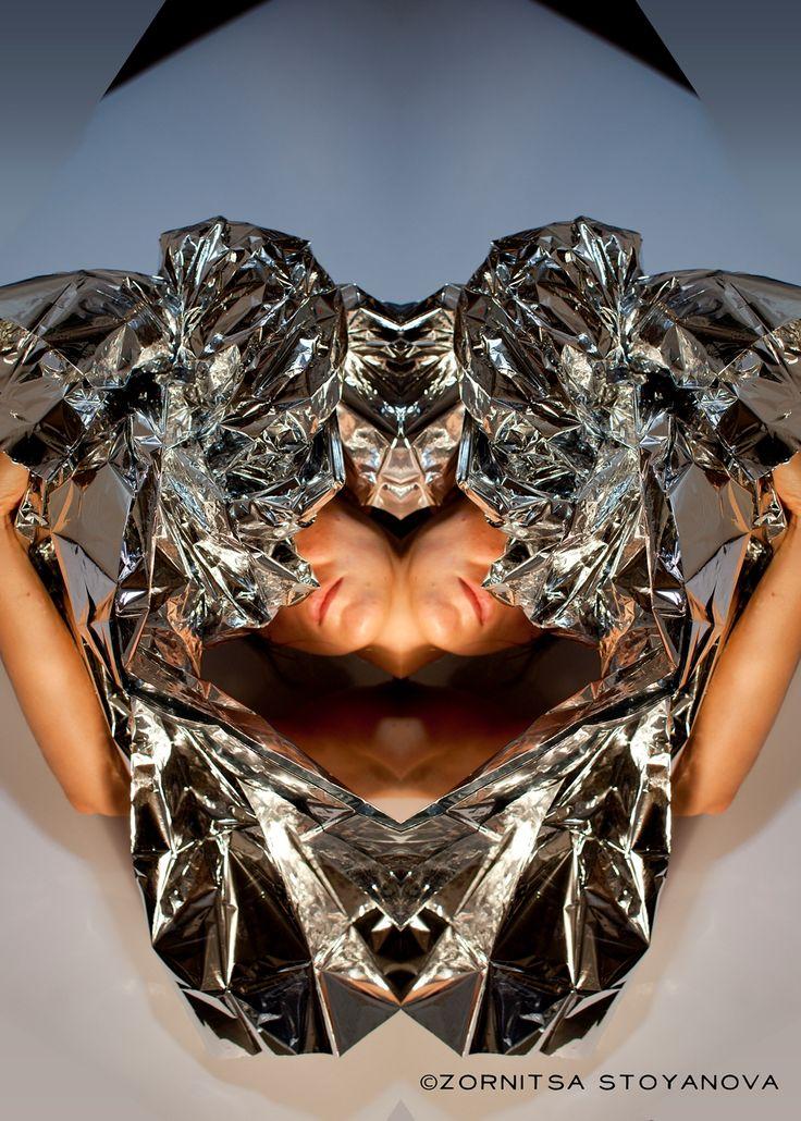 Three Heads   2015 by Zornitsa Stoyanova #psychedelic #surreal #surrealart #mylarart #psychedelicart