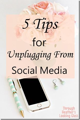 Here are 5 tips for unplugging from social media. Some days we need to take a break and detox or unplug from technology so we can spend time with family and friends offline.