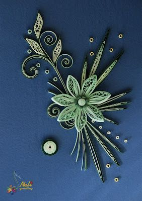 *QUILLING ~ by: neli: Quilling cards - flower