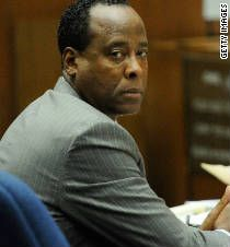 Dr. Conrad Murray left the Los Angeles County jail under sheriff's escort, avoiding reporters and Michael Jackson fans waiting for his release early Monday.