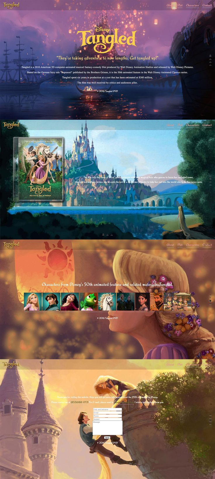 Tangled DVD designed by Ivy Tong