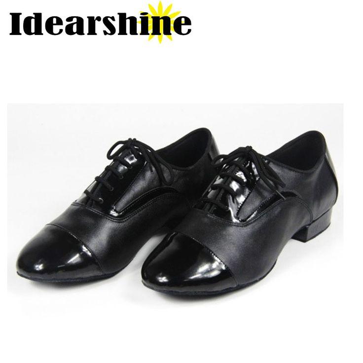 Men Teenager Modern Ballroom Tango Latin Dancing Shoes Heel 2.2 cm Man Dance Shoes #6192