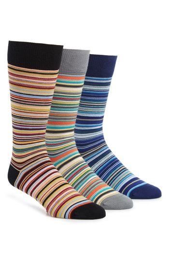 557a8381a TED BAKER PAUL SMITH 3-PACK STRIPE SOCKS.  tedbaker  cloth