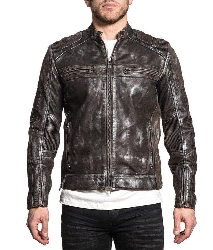 Affliction Evident Leather Jacket fashion clothing