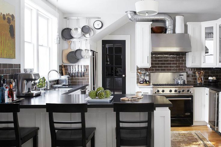 36+ Fabulous Black Granite Countertops Design Ideas in ... on Farmhouse Granite Countertops  id=51018