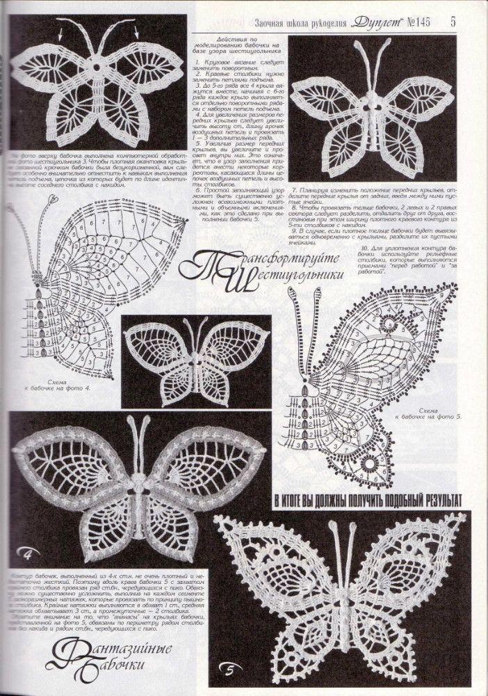 The 80 Best Baboczki Images On Pinterest Butterflies Crochet