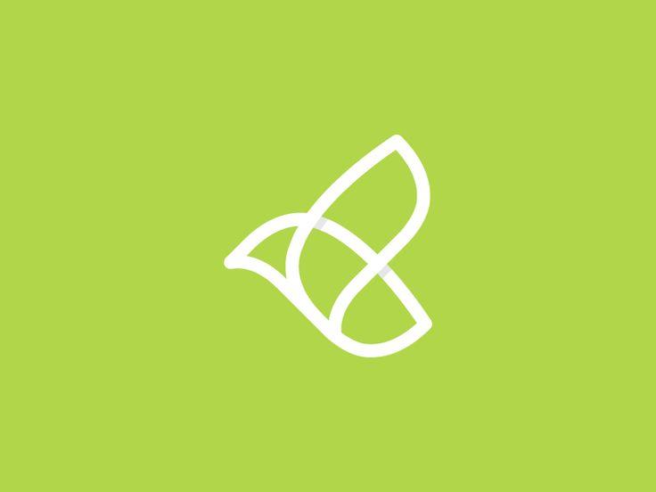 Bird + Leaf logo by Juan Tran