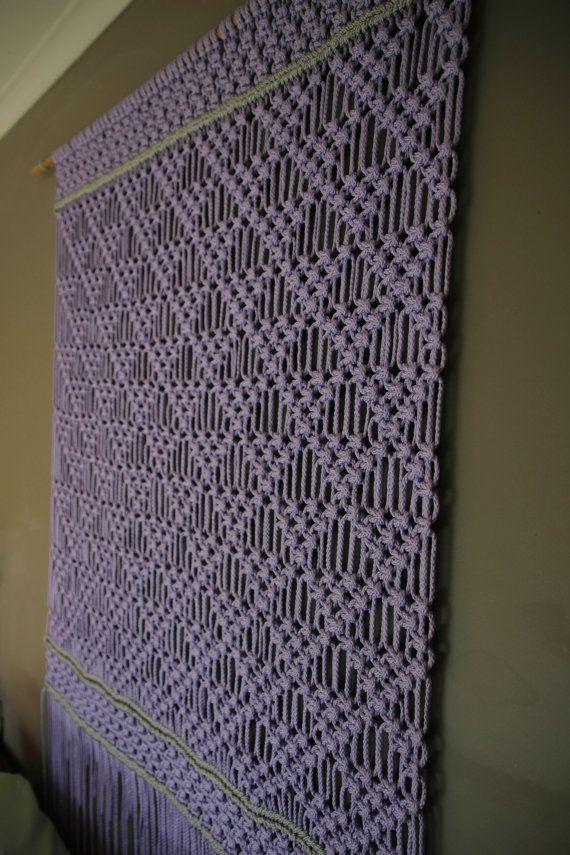 Macrame Wall Hanging Lavender Dream by Weaverbirdmacrame on Etsy