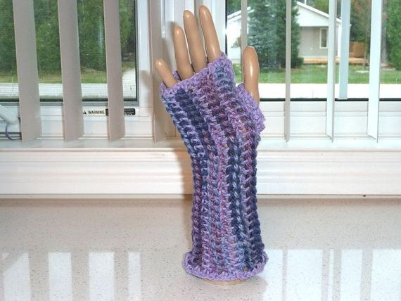 SALE  Fingerless Gloves Lavender Crocheted by SouthamptonCreations, $8.00