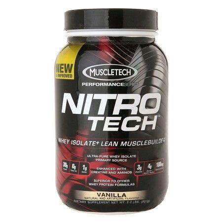 Muscletech Nitro Tech Whey Protein Isolate+ Vanilla - 32 Oz.